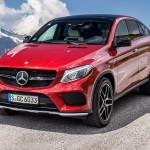 Mercedes Benz, GLE 450 AMG 4MATIC Coupé / Kitzbühel 2015, designo hyanzinthrot metallic, designo Exklusiv Nappa porzellan /schwarz