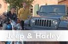 Markus Haubold und Ralf Schütze mit Jeep Wrangler und Softail Deluxe