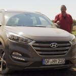 Hyundai Tucson auf dem Offroad-Testgelände in Frankfurt