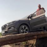 Hyundai Tucson im Gelände unterwegs