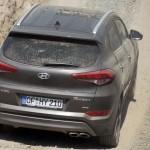 Hyundai Tucson an der Steigung