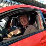 Mit Spaß dabei: Ralf im A45 AMG auf den Lausitzring