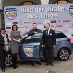 Held der Straße 2015 Hanko Penshorn mit Gabriele Velte, Staatssekretärin Dorothee Bär und Matthias Braun