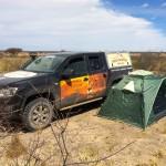 Schlafen im Zelt in der Kalahari