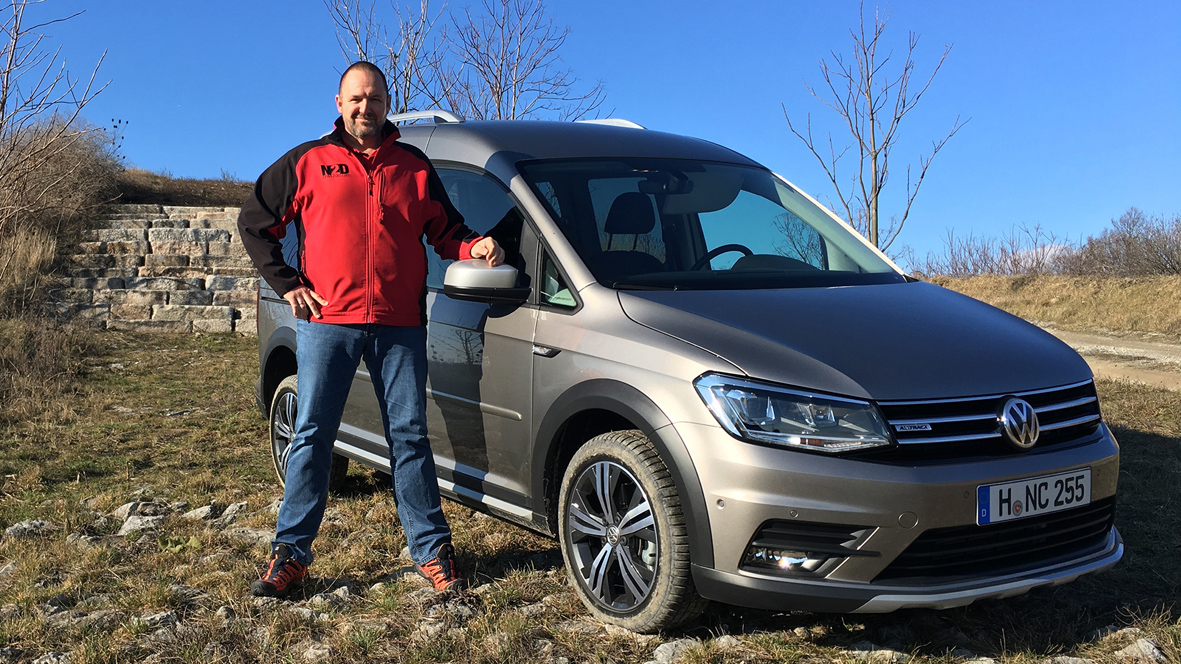 vw caddy alltrack tdi 4motion 2016 test fahrbericht die autovideo autotest. Black Bedroom Furniture Sets. Home Design Ideas