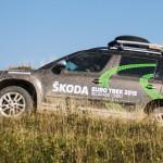 Skoda Euro Trek führt über Stock und Stein