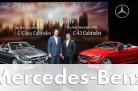 Ola Källenius und Tobias Moers präsentieren das neue Mercedes C-Klasse Cabrio und das Mercedes-AMG C 43 4MATIC Cabriolet. Quelle: Mercedes / http://die-autotester.com