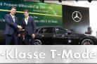 Ola Källenius und Roger Federer bei der Weltpremiere des neuen E-Klasse T-Modells anlässlich des MercedesCup 2016. Foto: Daimler / http://die-autotester.com