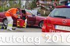 Retter vor Ort im simulierten Einsatz beim Allianz Autotag 2016. Foto: http://die-autotester.com