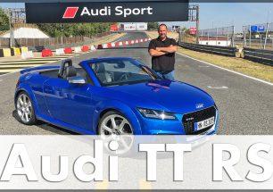 Lars Hoenkhaus testet den Audi TT RS Roadster auf dem Jarama Race Track. Quelle: http://die-autotester.com