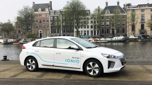 Hyundai IONIQ electric Car Sharing in Amsterdam. Foto: http://die-autotester.com