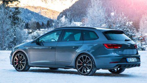 Seat Snow Experience 2018: Im Seat Leon ST Cupra auf Schnee & Eis. Foto: Seat / http://die-autotester.com