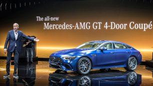 Weltpremiere des Mercedes-AMG GT 4-Türer Coupé in Genf. Foto: Daimler / http://die-autotester.com
