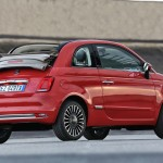 Fiat 500 Cabriolet in Turin. Facelift 2015