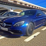 AMG C 63 S Coupé in der Boxengasse